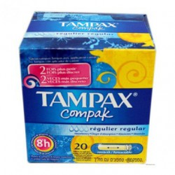 TAMPAX COMPAK REGULAR 22...