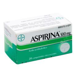 ASPIRINA 500 MG 20 COMP...